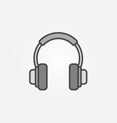 On-ear headphones icon or symbol vector