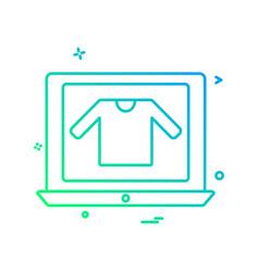 online shopping icon design vector image