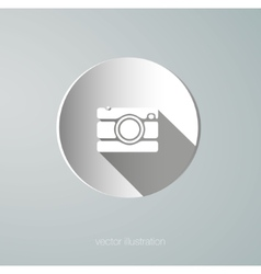 paper camera icon vector image