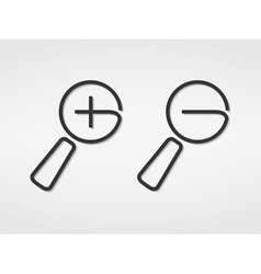 Plus and Minus Signs vector image