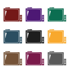 pub television icon in black style isolated on vector image