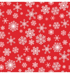 Red seamless background with snowflakes vector