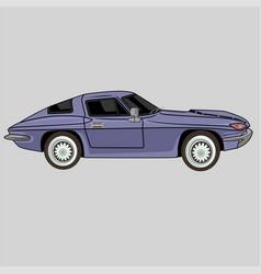 Retro classic sport car chevrolet coupe 1967 vector