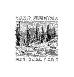 Rocky mountain national park icon vector