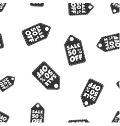 Sale 50 off hang tag seamless pattern background vector