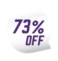 Sale banner discount label design flat vector image