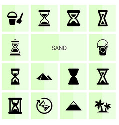 Sand icons vector