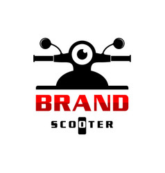 scooter logo design vector image