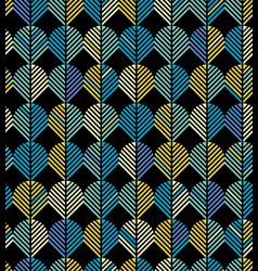Seamless abstract geometric chevron leaf pattern vector