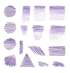 set of various pencil strokes vector image