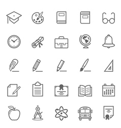 set outline stroke education icon vector image