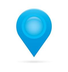 Sky light blue map pointer icon marker GPS vector