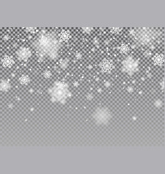 snow falling background magic christmas vector image