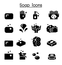 soap icon set vector image