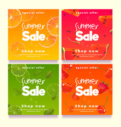 summer sale banners social media post template vector image