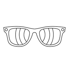 Sunglasses icon outline style vector image