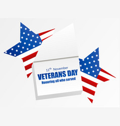veterans day 11th november honoring all who vector image