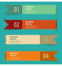 Vintage retro infographics options banner set vector