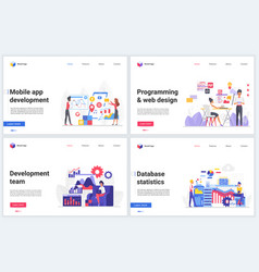 web design programming development vector image