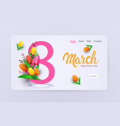 womens day 8 march holiday celebration sale banner vector image