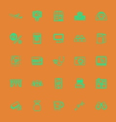Application line green color icons vector image