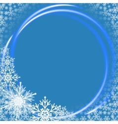 Christmas background with neon ring vector