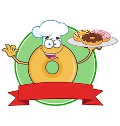 Donut Chef Cartoon vector image vector image
