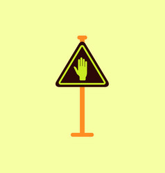 No entry hand sign traffic symbol vector