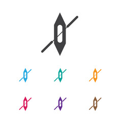 Of camping symbol on ship icon vector