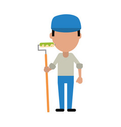 painter worker avatar vector image vector image