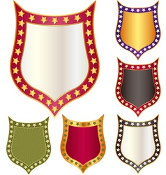 shield with stars vector image vector image