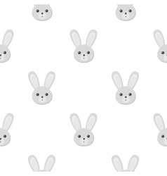 Rabbit cartoon icon for web and vector image