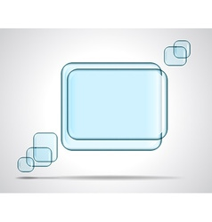 Square glass plates for text vector image vector image