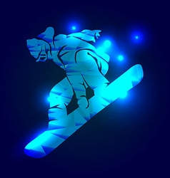 a snowboarder vector image
