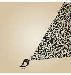 Birdie sings2 vector image vector image