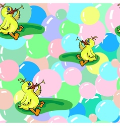 Ducks And Soap Bubbles vector image