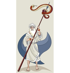 Moses and serpent vector image