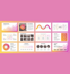 presentation with gradient colors business vector image