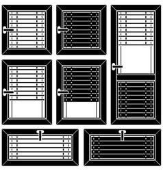 venetian blind window black symbols vector image