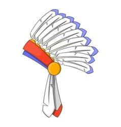 War bonnet icon cartoon style vector image vector image