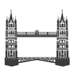 london tower bridge vector image