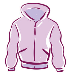 A pink jacket or color vector