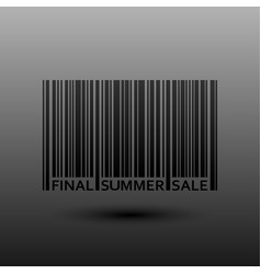 Abstract Barcode Final Summer Sale vector