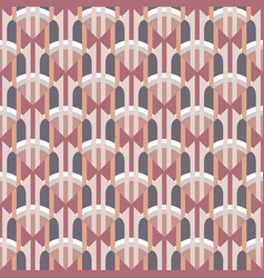 abstract geometric background in art nouveau retro vector image