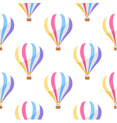 airballoon with colorful stripes seamless pattern vector image