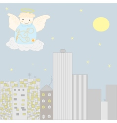 Angel at the sky vector image