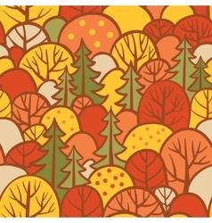 Background with autumn trees vector