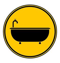 Bathtub button vector image