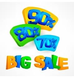 Big sale labels vector
