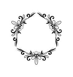 black classic triangular contour frame vector image